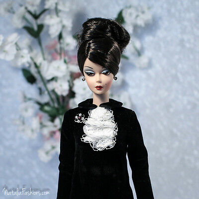 New Black Dress Only For Barbie Silkstone Fashion Royalty Poppy Parker Outfit