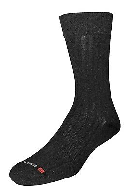 (Large (W10-12 / M8.5-10.5), Black) - Drymax Dress Crew Socks. Free Delivery