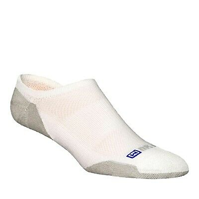 (Medium, White / Grey) - Drymax Sport Lite-Mesh No Show Socks. Free Delivery