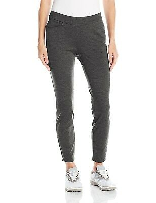 (Large, Black) - adidas Golf Womens Ponte Ankle Pant. Shipping is Free