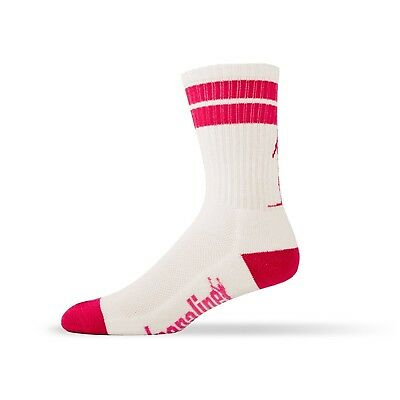 Adrenaline J-Train Socks - White/Pink-SM/MED. Adrenaline Promotions