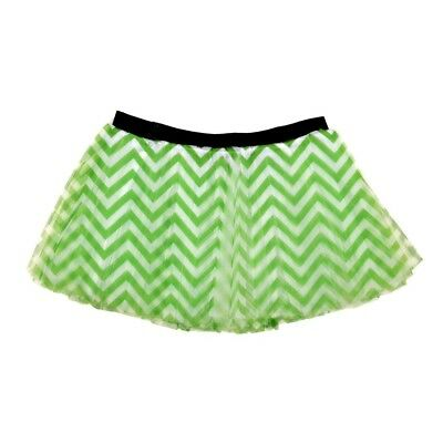 (Lime) - Runner's Printed Tutu Chevron. Gone For a RUN. Free Shipping