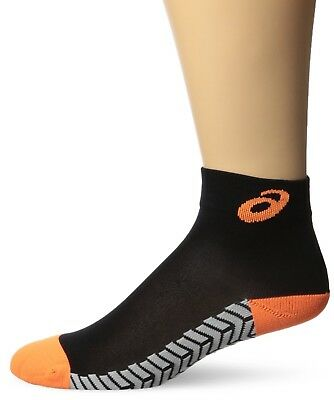 (Medium, Black/Neon Orange) - ASICS Snap Down It Socks. Brand New