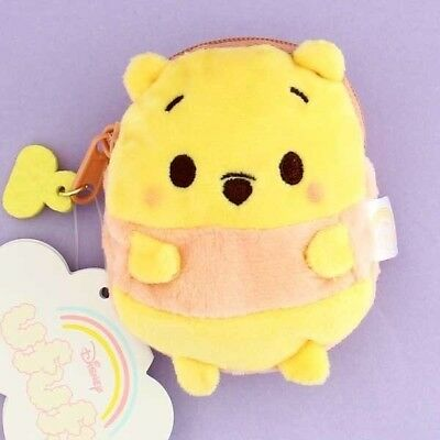 Authentic Disney Japan Ufufy Winnie The Pooh Coin Purse Pouch 3 DAY SHIPPING