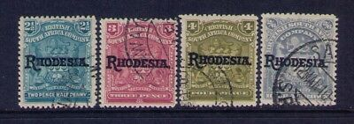 Rhodesia Stamps Ovpt Sc# 85-87;94 Used, CV:$12.25