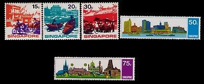 Singapore Stamps, SC# 133-137 Cpl.MLH Set,CV:$20