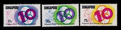 Singapore Stamps Youth Festival 10th Anniv.SC# 251-253 Cpl.MH Set,CV:$4.15