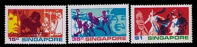 Singapore Stamps,1972 SC# 161-163 Cpl.MLH Set,CV:$10.50