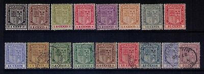 MAURITIUS Stamps, Coat of Arms SC# 161//178 ,Missing#174 MH and Used ,CV:$66