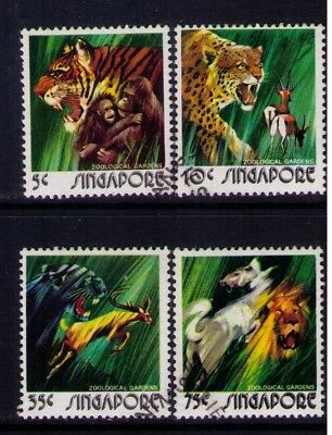 Singapore Stamps,Zoological Gardens SC# 202-205 Cpl.MH/Used Set,CV:$16.50