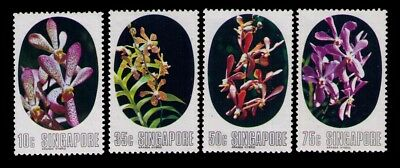 Singapore Stamps, Flowers SC# 247-250 Cpl.MH Set,CV:$17.05