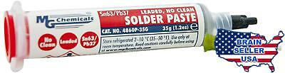 MG Chemicals 63/37 No Clean, Leaded Solder Paste, 35 g Syringe, New, Free Ship