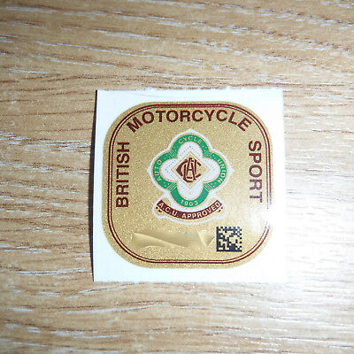 Genuine ACU Auto Cycle Union Motorcycle Helmet Track Race Approval Gold Sticker