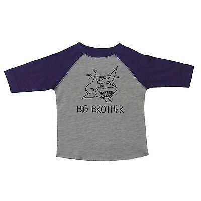(Youth Large, Grey/Purple) - We Match! Big Brother Great White Shark Toddler &