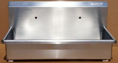 New Columbia / Sani-Lav Stainless Steel Wash Station w/Dual Faucets #: 54WSL