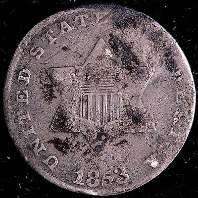 1853 3 Cent Silver R2SCT