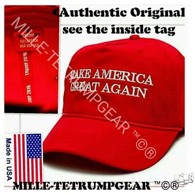 OFFICIAL AUTHENTIC ORIGINAL Donald Trump Make America Great Again rope hat cap
