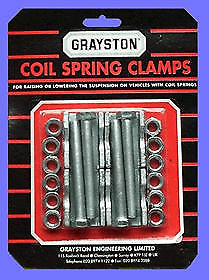 GRAYSTON coil spring clamps-race/rally/trackday/off road/towing/lowering
