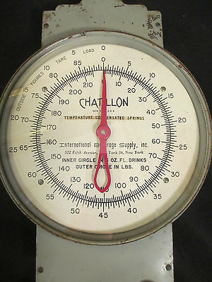 Vintage Chatillon Hanging Scale Produce Hardware 0-85 lbs. 0-210 oz. New York