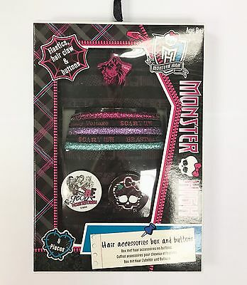 Monster High Girls Gift Set Hair Accessories, Buttons Boxed (HP)