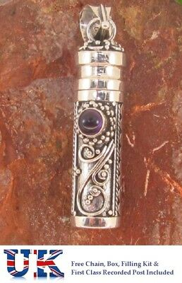 Amethyst   Sterling Silver Cremation Jewellery Ashes Urn Pendant Memorial