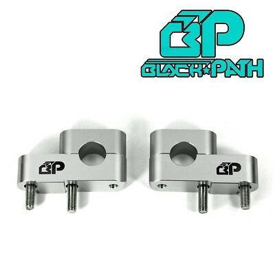 "BP for 7/8"" bars 1"" Up 1.25"" Back Beta Trials Silver Handlebar Riser Spacer Kit"