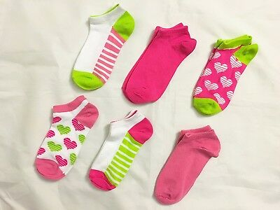Stride Rite 6 pack Susie Hearts Crew Socks - Hearts Pink. Best Price