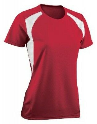 (Small, Scarlet/White) - Girls Torrent Tech Tee. Teamwork. Shipping Included