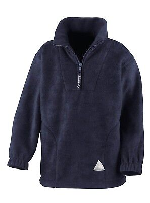 (4-6, Navy) - Result Kids/Youths Zip Neck Active Fleece. Free Shipping