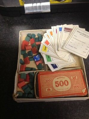 Vintage Monopoly 1940s Wooden /cardboard peices  (No board) Patent453689