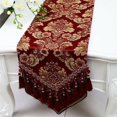 (33*200cm, Wine Red) - Shopping- Fashion Simple European American Table Runner