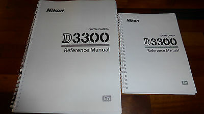 PRINTED  Nikon D3300 Digital Camera User Guide, Instruction Manual  Colour A5