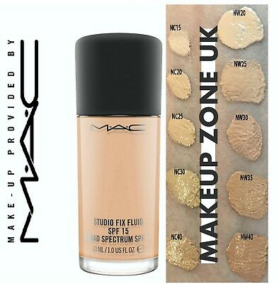 Mac Studio Fix Foundation Fluid 30Ml Nc Nw Pick Your Shade Spf15