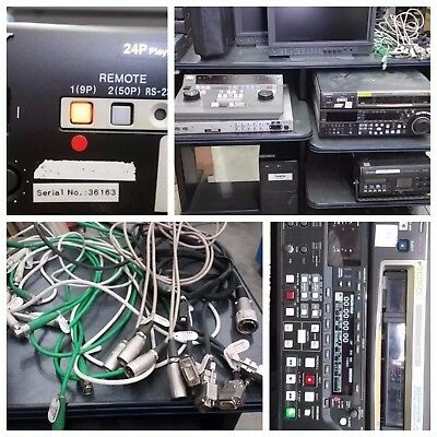 SONY HDW-2000 HDW-250 PVE-500 &more studio equipment in a bulk maritime shipping