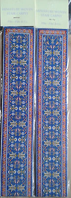 Pair of Woven Turkish Miniature Dollshouse Stair Carpet  50x500mm approx