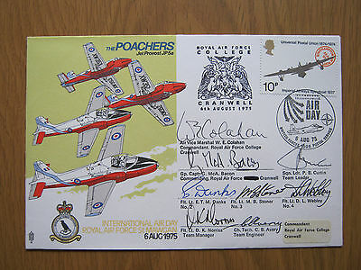Raf Flight Cover   Poachers  Signed