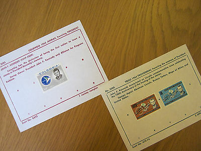 1963 J.f. Kennedy Stamps