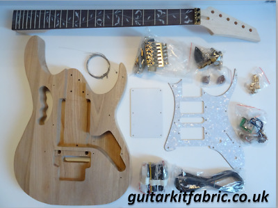 DiY Electric Guitar kit - Jem Ibanez Gold, Ash