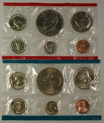 1976 P&D United States 12 Coin BU Bicentennial Mint Set as Issued W/ COA