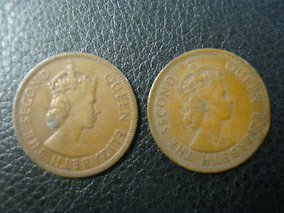 1955 & 1956 Cyprus Five Mills Coins