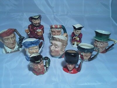 x10 Toby Jug Collection Royal Doulton & Beswick