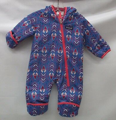 Patagonia Baby Reversible Puff-Ball Bunting 60131 Tipikat/Oasis Blue 0/3 Months