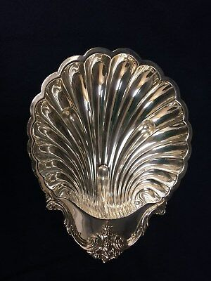 Vintage Silver Clam Shell Shaped Serving Dish International Silver Collectible