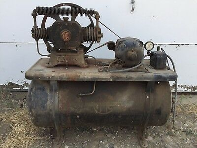 1927 Champion Air Compressor Brass Era Pre-16 Hit&Miss Old Gas Engine Steam