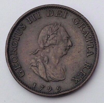 Dated : 1799 - One Farthing - Coin - King George III - Great Britain