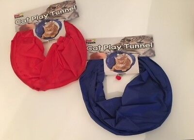 BRAND NEW - SMALL Kitten Play Tunnel Red or Blue