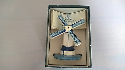 Boxed Royal Goedewaagen Blue Delft Handpainted Windmill