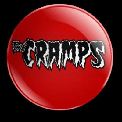 THE CRAMPS 25MM BADGE AMERICAN GARAGE PUNK LUX INTERIOR CBGBs PSYCHOBILLY