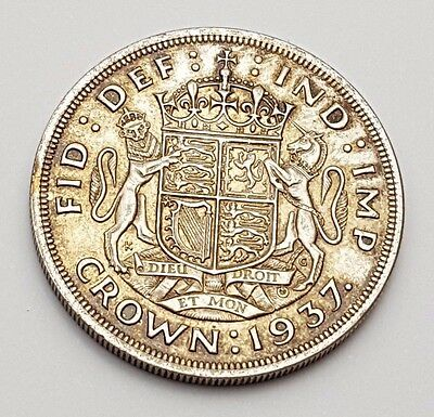 Dated : 1937 - Silver Coin - Coronation - Crown - King George VI