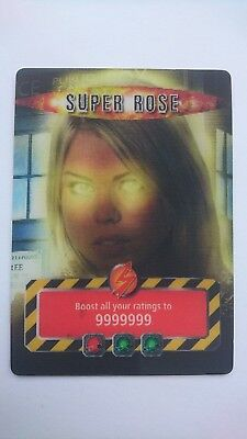 Dr Doctor Who Battles in Time SUPER ROSE GOLD CARD 2007 Ultra Rare Trading Card